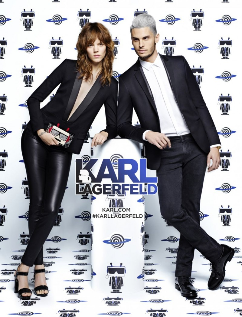 Freja Beha Erichsen and Baptiste Giabiconi photographed by Karl Lagerfeld for his spring-summer 2016 campaign.