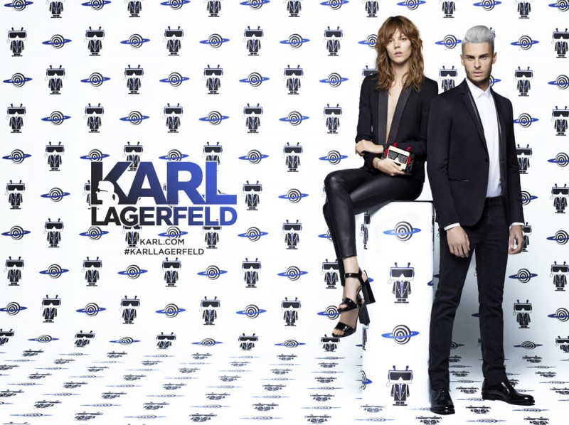 Freja Beha Erichsen and Baptiste Giabiconi appear in Karl Lagerfeld's spring-summer 2016 campaign.