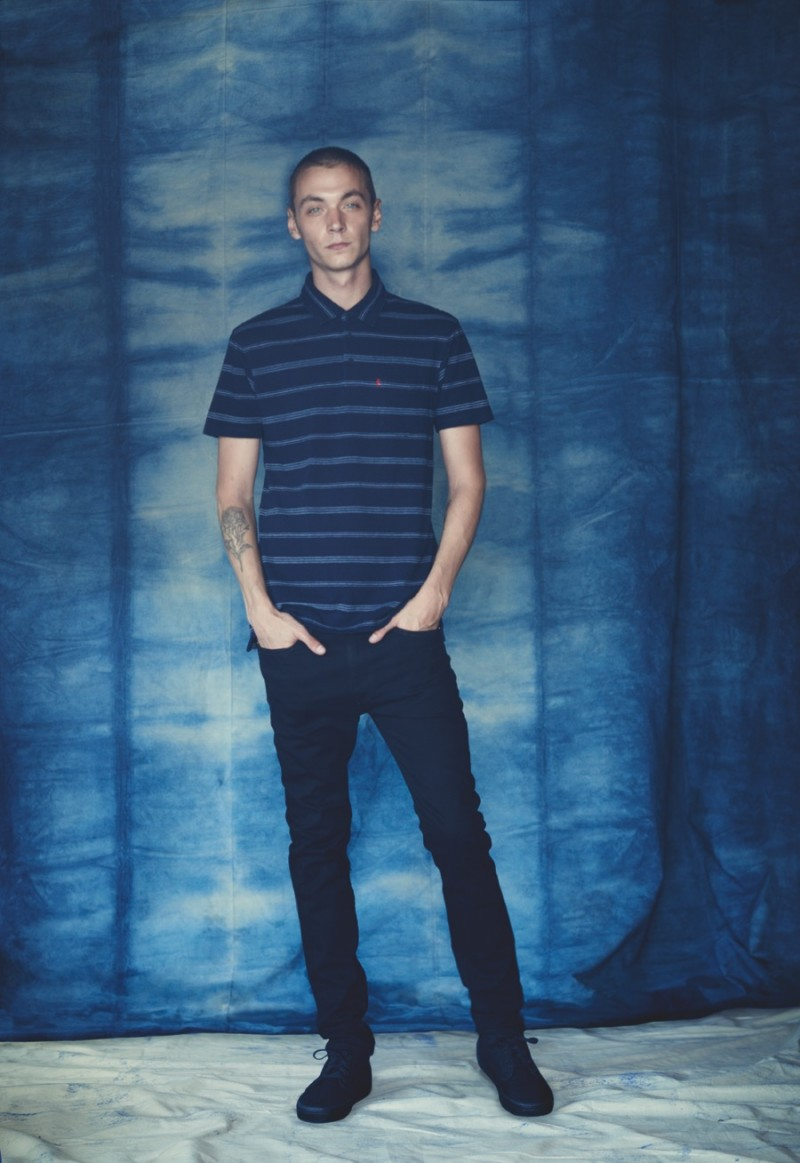 Model Yuri Pleskun is photographed in new Levi's 519 Extreme Skinny Jeans.