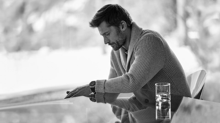 Nikolaj Coster-Waldau wears cardigan Michael Kors and t-shirt Sandro.