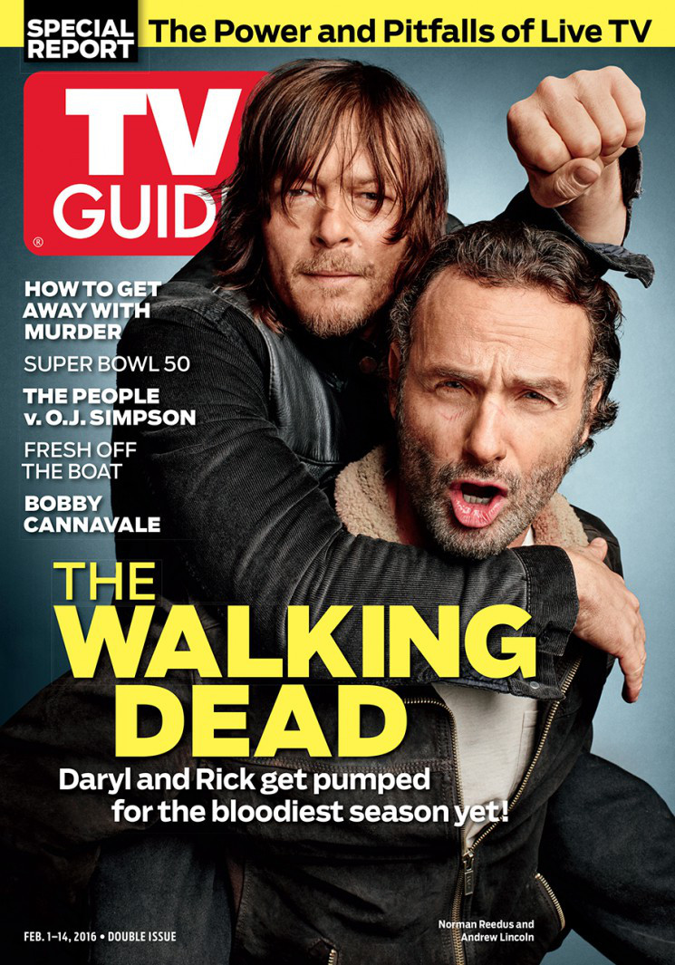 The Walking Dead's Norman Reedus & Andrew Lincoln Cover TV Guide