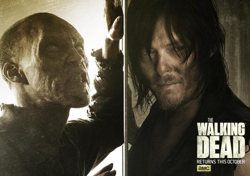 The Walking Dead season six poster artwork featuring Norman Reedus as Daryl Dixon.