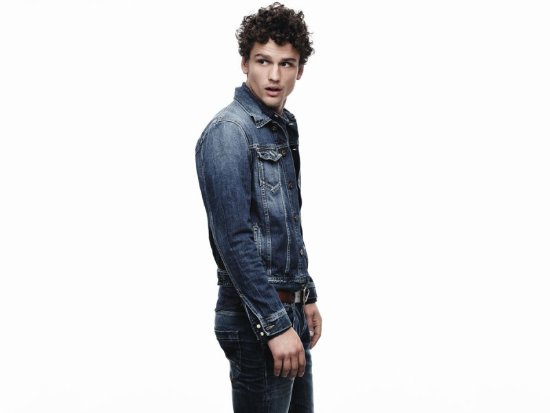Simon Nessman doubles down on denim for Pepe Jeans' spring-summer 2016 campaign.
