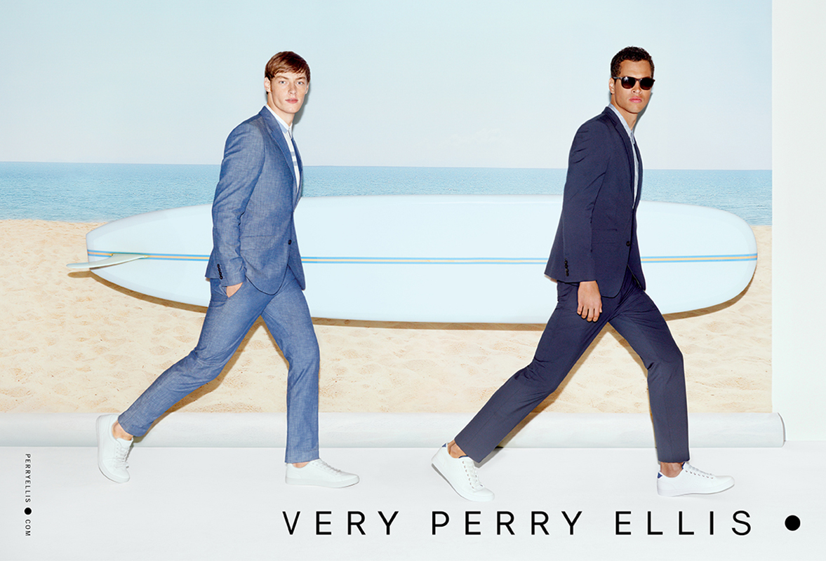 Perry Ellis Gets Cheeky with Beach Themed Campaign