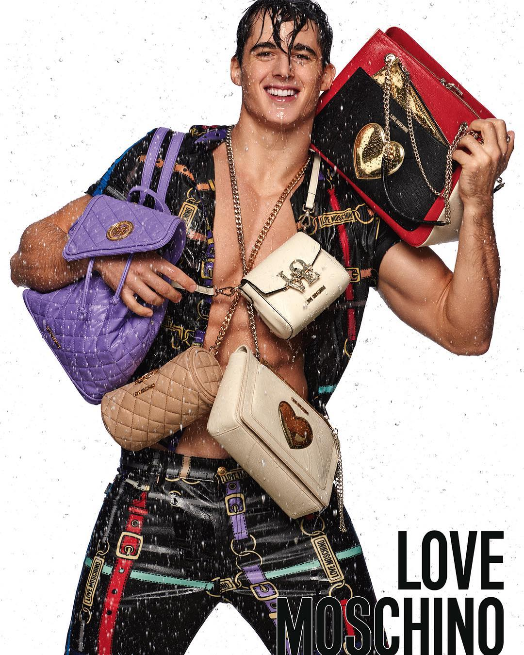 Pietro Boselli is All Smiles for Love Moschino Campaign