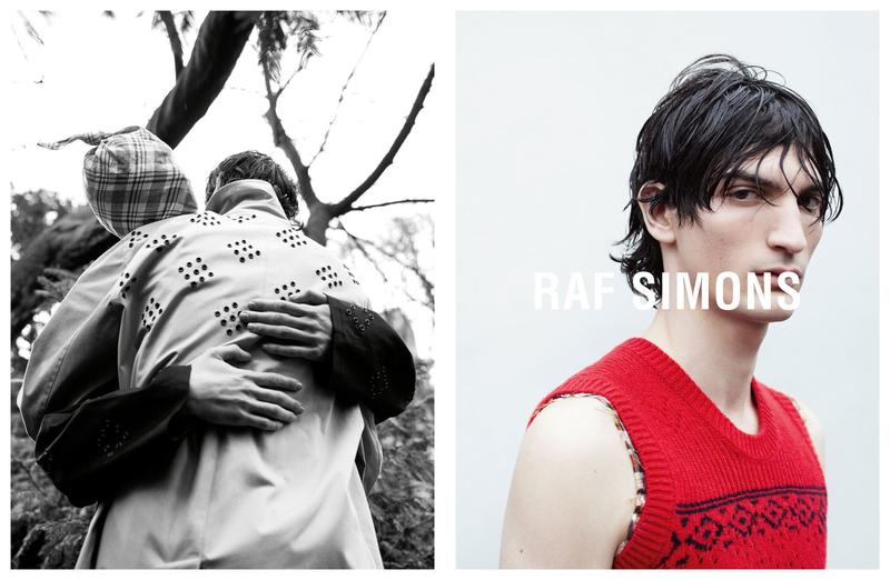 Raf Simons Captures an Anonymous Embrace for Spring Campaign