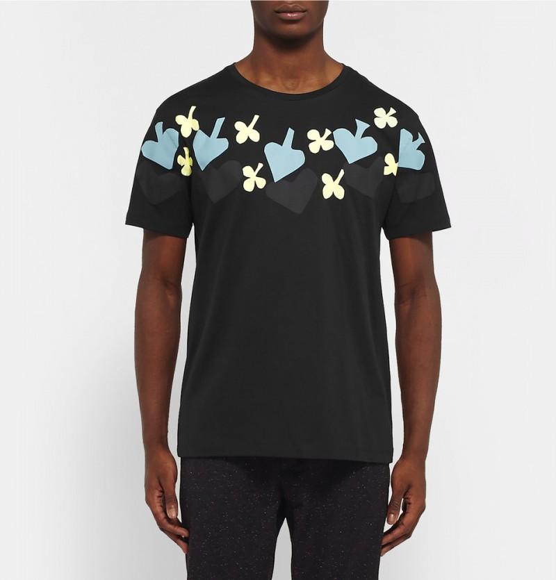 Raf Simons Slim-Fit Printed Cotton T-Shirt