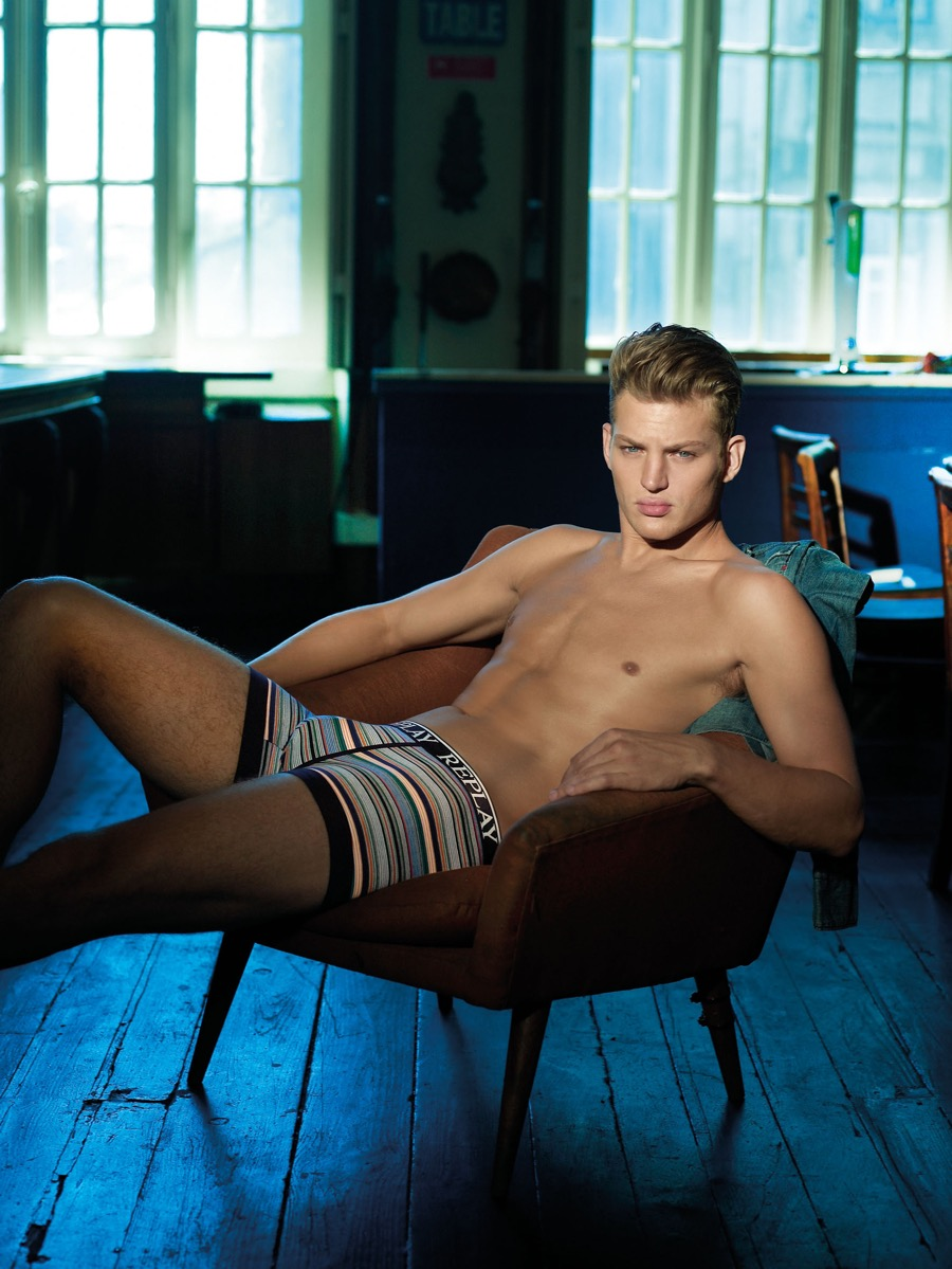 Replay Underwear Reunites with Sebastian Sauvé for Spring Campaign