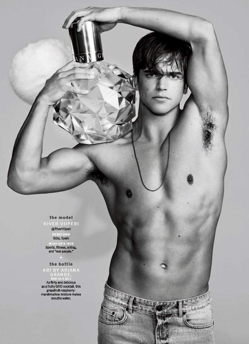 River Viiperi photographed for the pages of Cosmopolitan magazine.