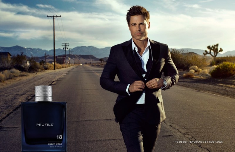 Rob Lowe stars in the fragrance campaign for Profile 18 Amber Wood.
