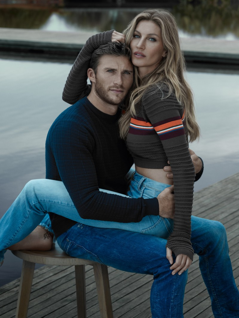 Scott Eastwood and Gisele Bündchen star in Colcci's fall-winter 2016 campaign.