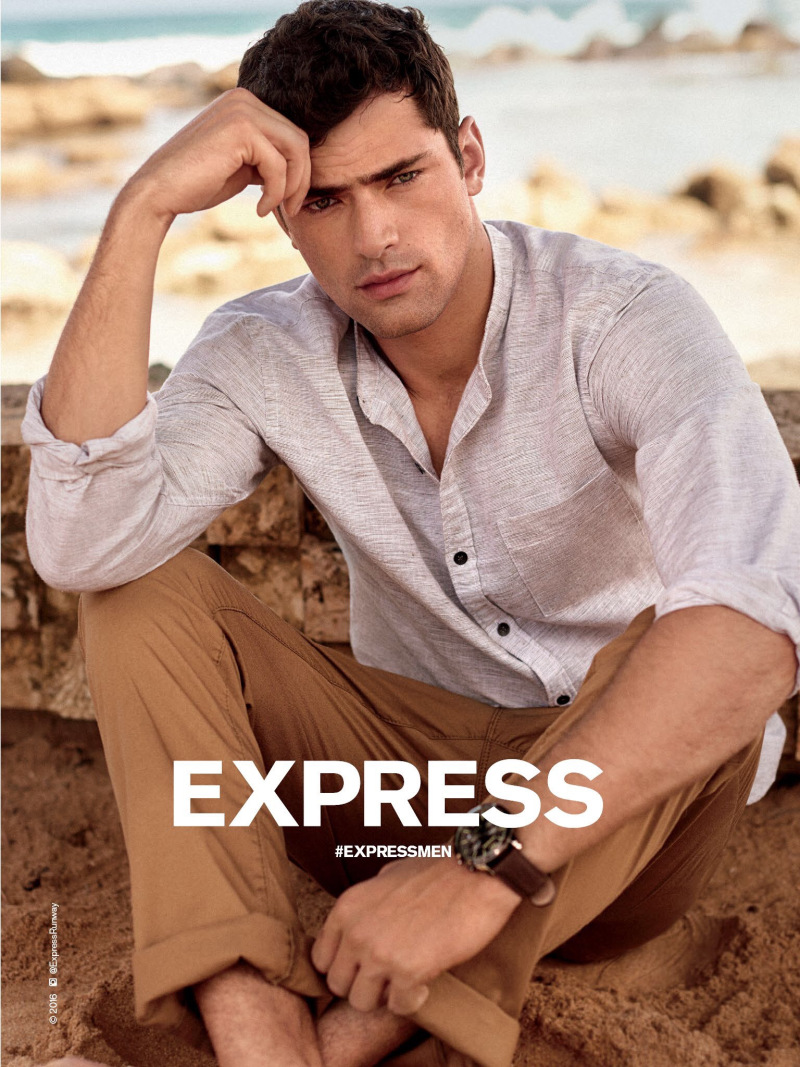Sean O'Pry for Express 2016 Spring/Summer Campaign