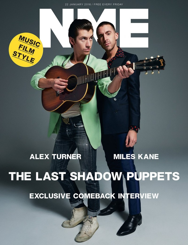 The Last Shadow Puppets Alex Turner and Miles Kane cover NME magazine.