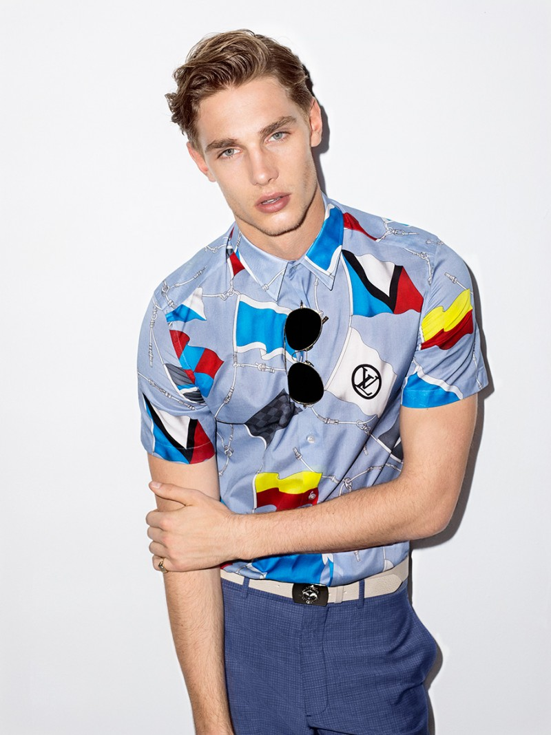 Tommy Marr is front and center Louis Vuitton menswear.