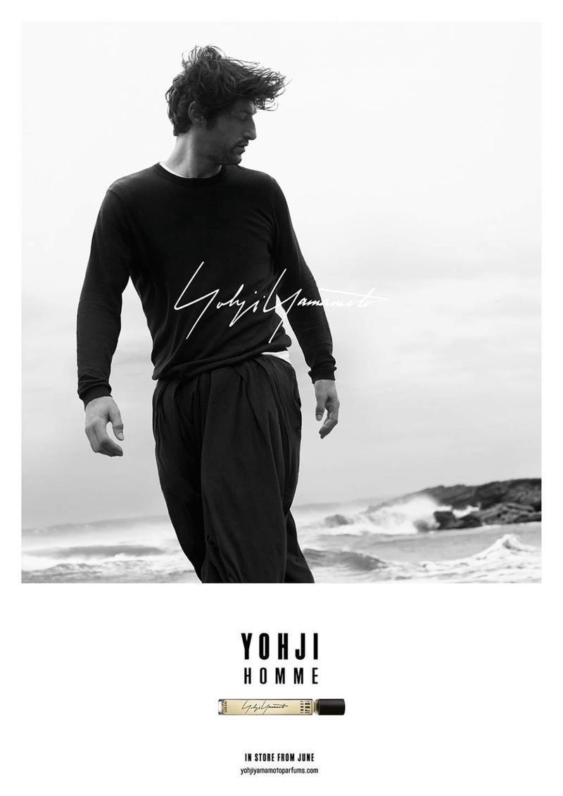 Tony Ward Fronts Yohji Yamamoto Fragrance Campaign