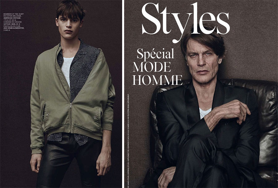Model Father & Son: Andre & Parker van Noord Star in L'Express Styles Editorial