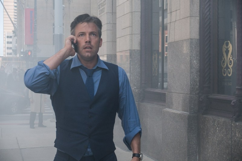 Wearing a waistcoat, shirt and tie as Bruce Wayne in Batman v Superman: Dawn of Justice, Ben Affleck is dressed in Gucci.
