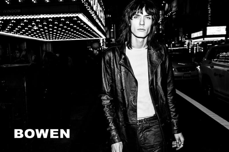 Justin Gossman fronts Bowen's fall-winter 2016 campaign.