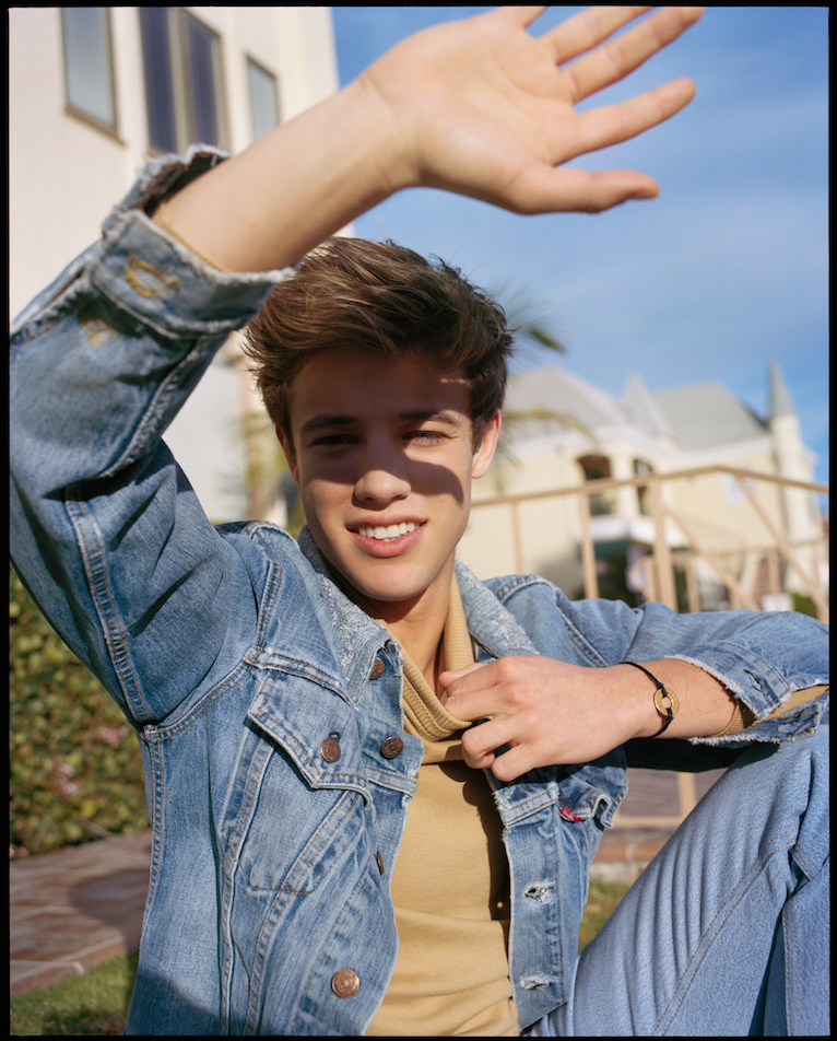 Cameron Dallas channels 90s style in denim for his Wonderland shoot.