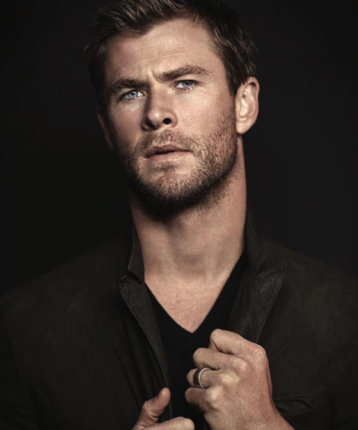 Chris Hemsworth appears in a portrait for Modern Luxury.