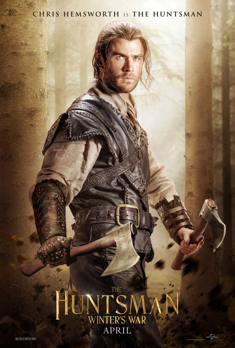 Chris Hemsworth stars in poster artwork for The Huntsman: Winter's War.