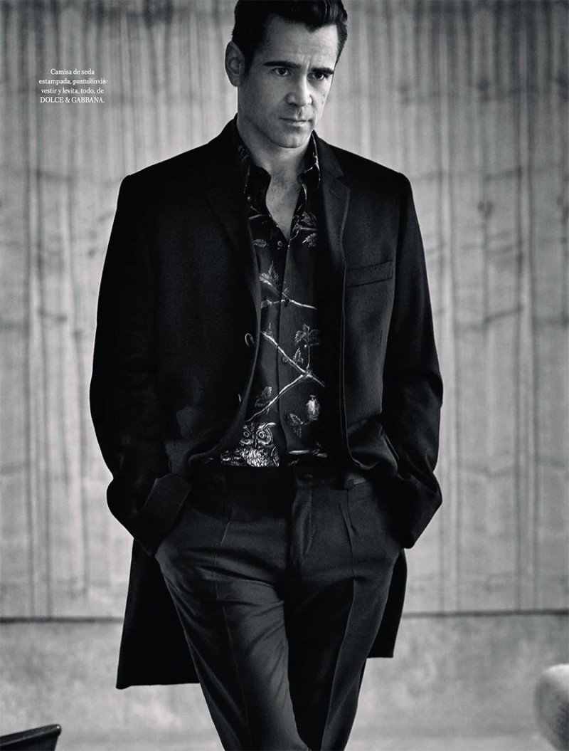 Colin Farrell styled by Andrea Tenerani in Dolce & Gabbana.