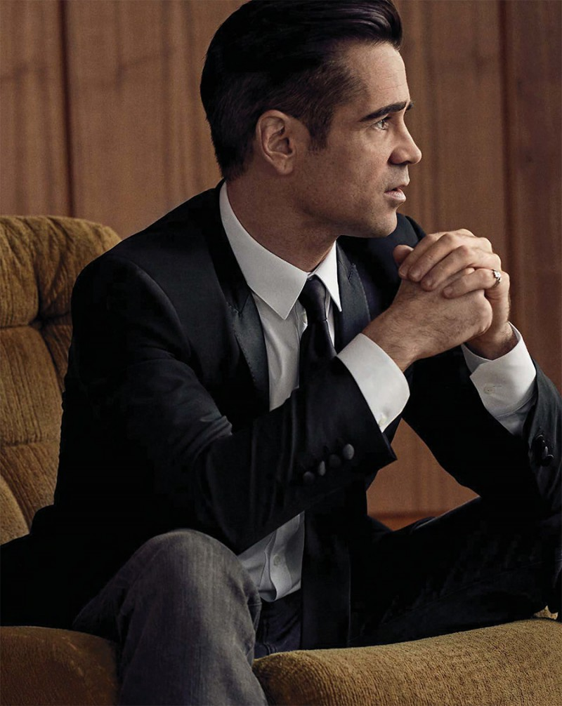 Colin Farrell is sartorial in a Dolce & Gabbana suit.