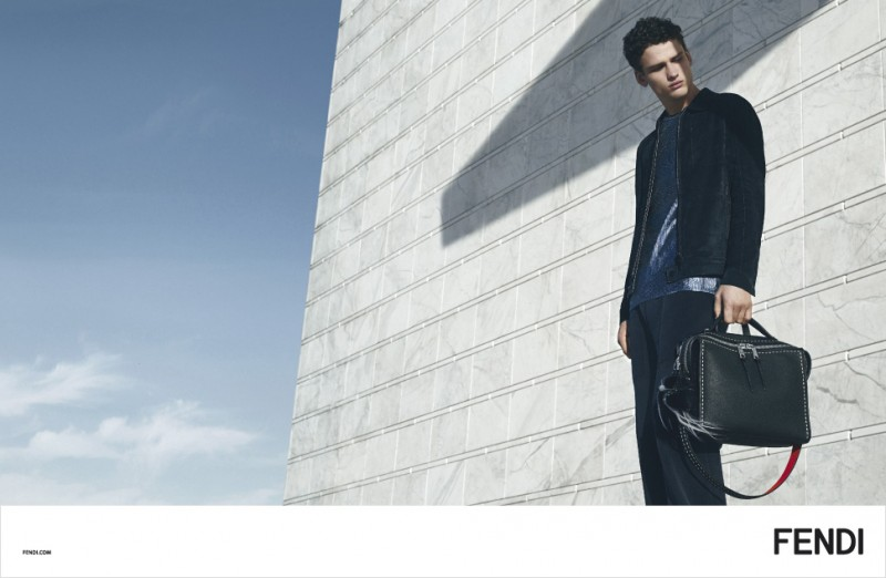 Simon Nessman fronts Fendi's spring-summer 2016 campaign.
