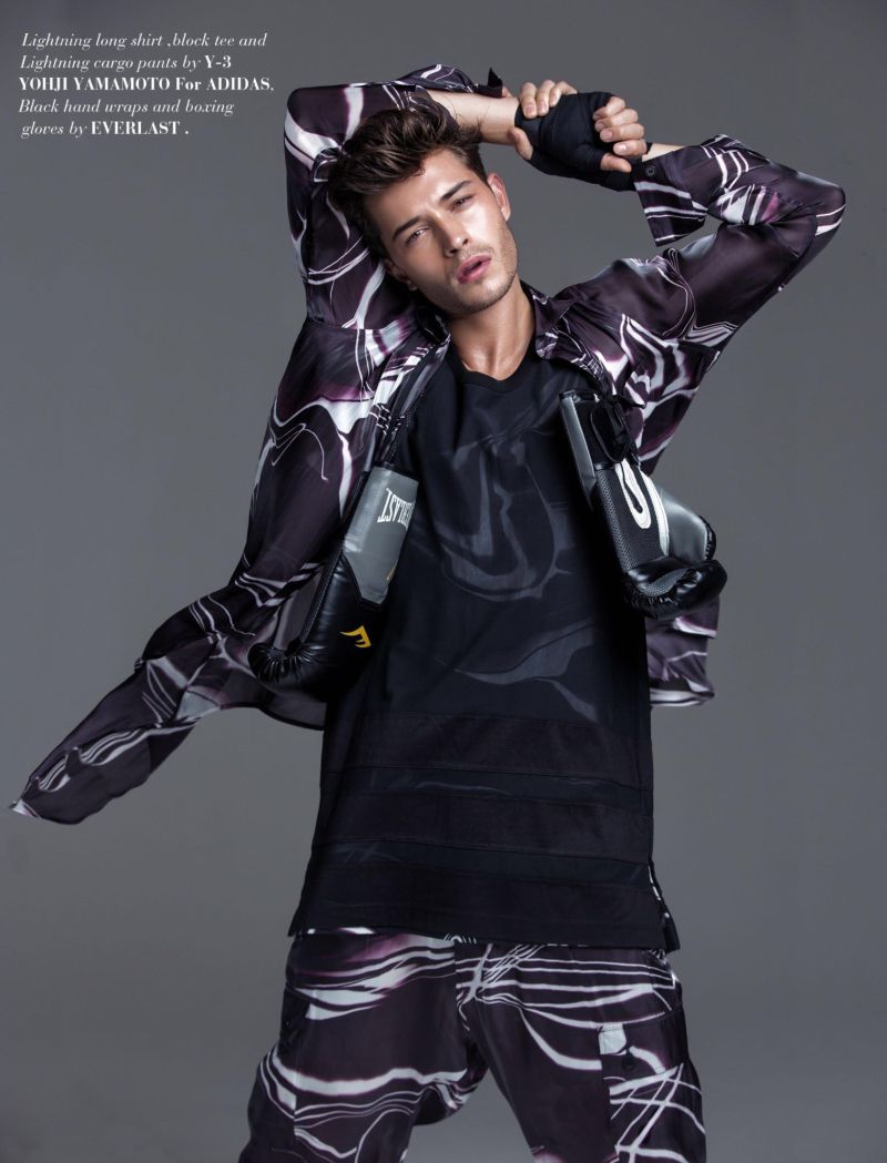 Francisco Lachowski poses for the pages of FV magazine.