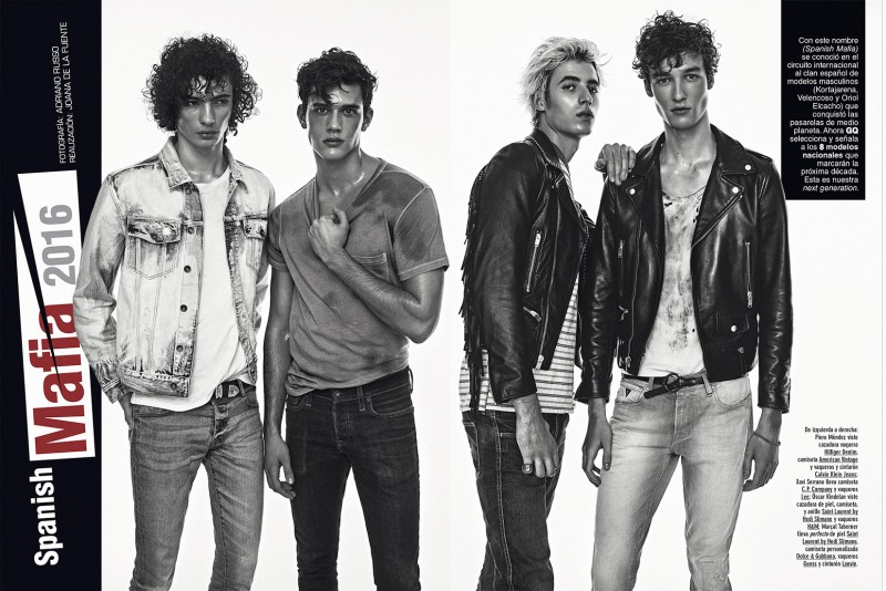 Piero Mendez, Xavier Serrano, Oscar Kindelan and Marçal Taberner photographed for GQ España.