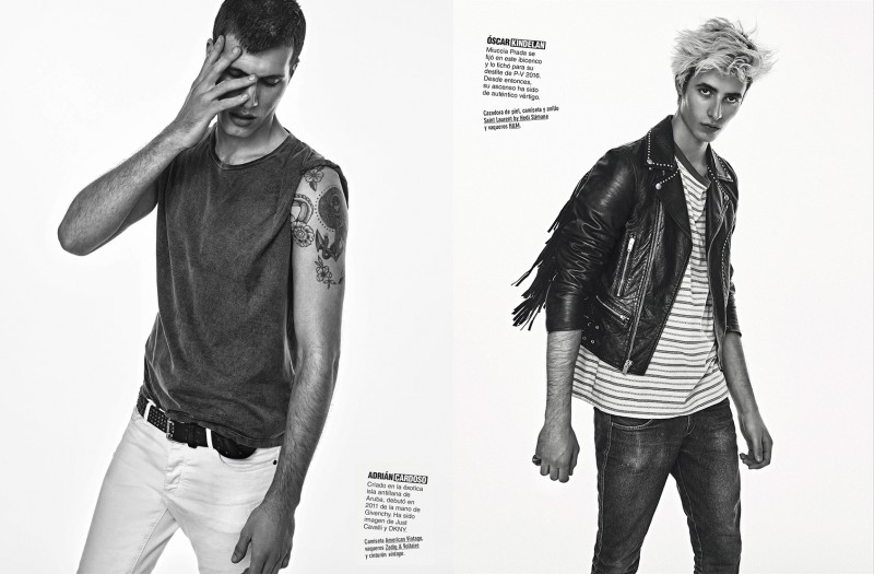 Adrian Cardoso and Oscar Kindelan embrace a rock aesthetic for the pages of GQ España.