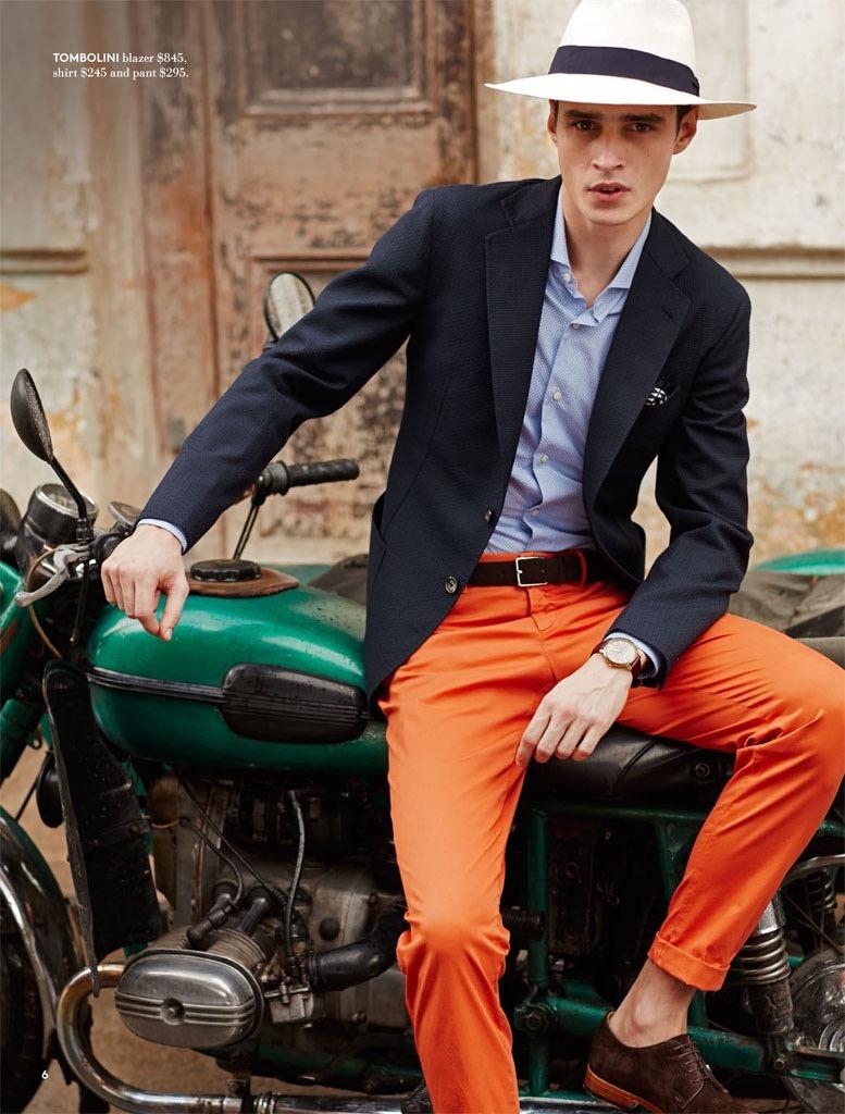 Cubano Cool: Adrien Sahores Models Spring's Designers for Hudson's Bay