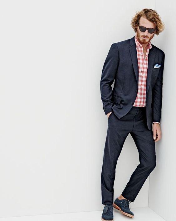 J Crew Men S Ludlow Suit Jacket In Microstripe Italian Cotton Slim Linen