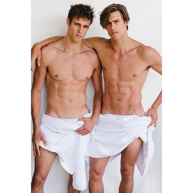 Jordan & Zac Stenmark Appear in Mario Testino's Towel Series
