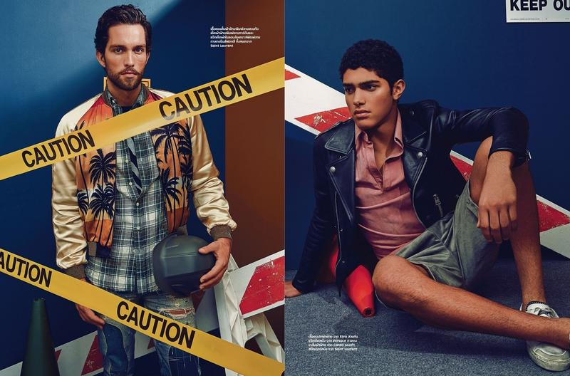 Tobias Sorensen is joined by Torin Verdone for L'Optimium Thailand, wearing spring fashions from the likes of Saint Laurent.