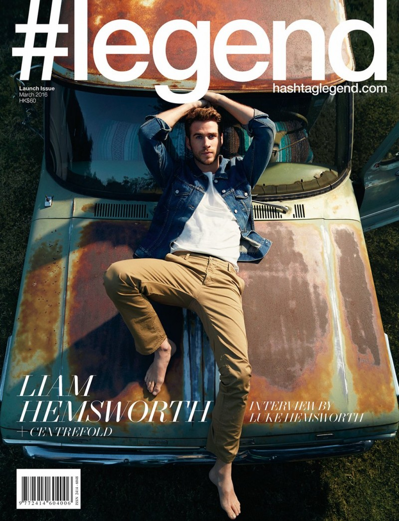 Liam Hemsworth covers the debut issue of Australian magazine #legend.