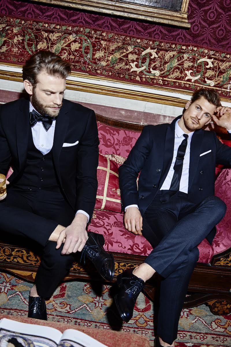 Models Nikolai Lind and Lasse Hansen front M.Gemi's men's footwear campaign.