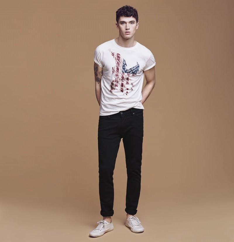 664c387ed1 Matthew Holt wears Mango s Jan Slim-Fit Stretch jeans.