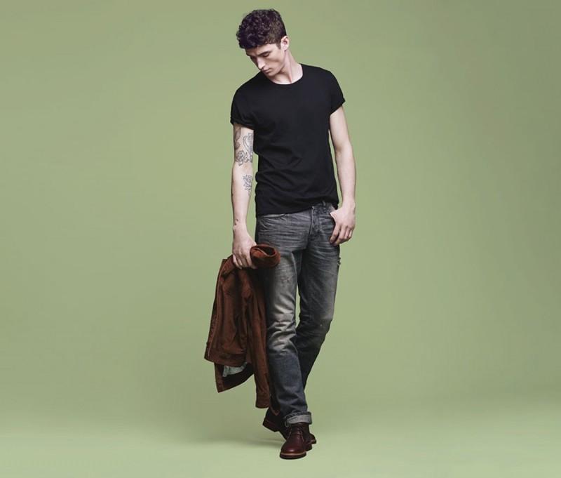 Matthew Holt wears Mango's Marc Slim-Fit jeans.