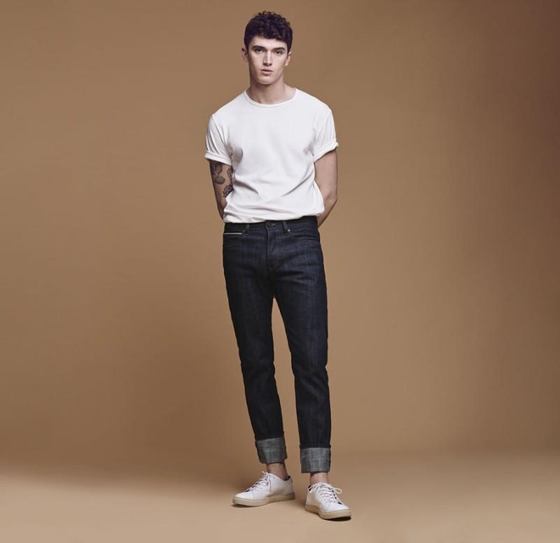 Matthew Holt wears Mango's Xavi Straight-Fit jeans.