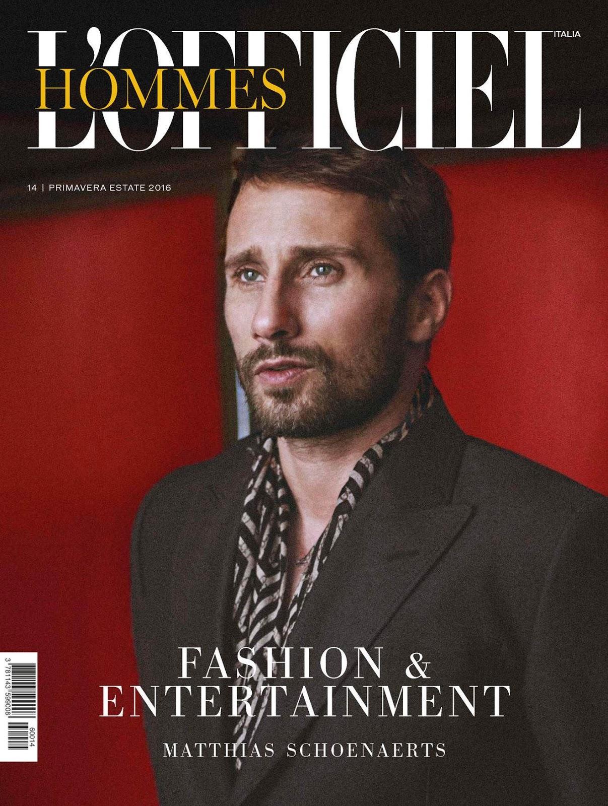 Matthias Schoenaerts Covers L'Officiel Hommes Italia