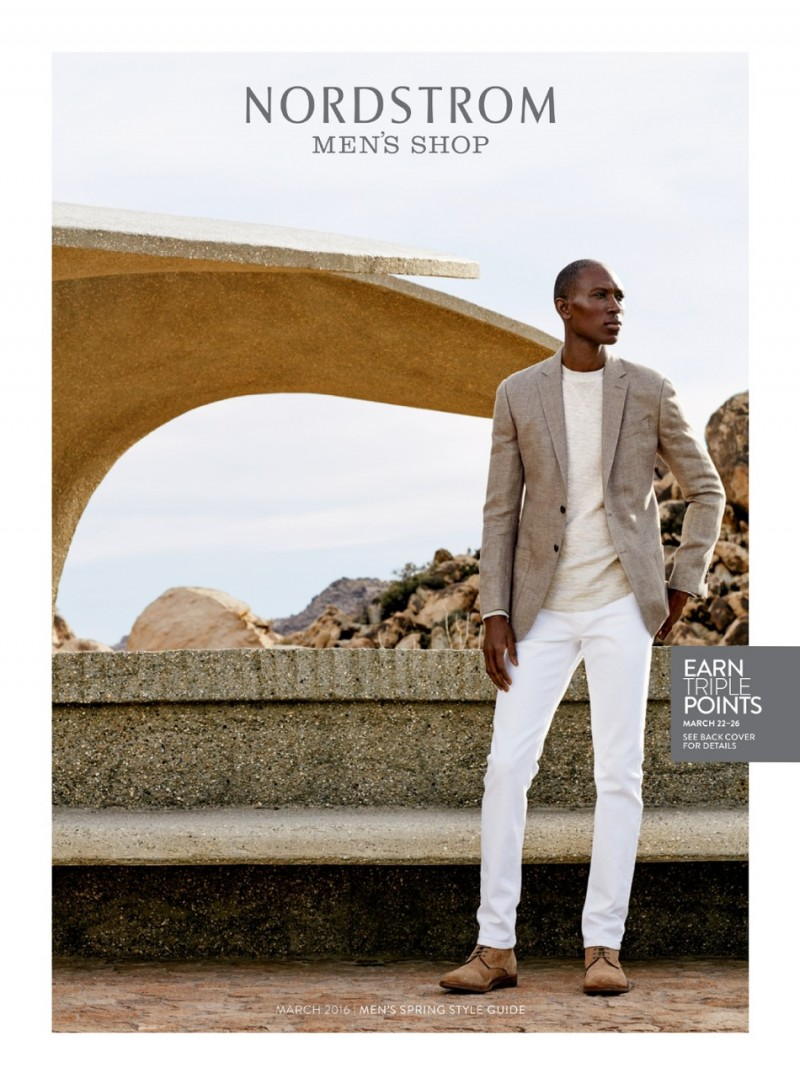 Model and designer Armando Cabral covers Nordstrom's spring 2016 men's style guide.