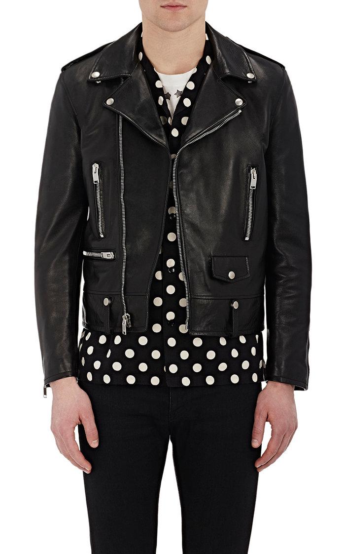 Saint Laurent Men's Leather Biker Jacket