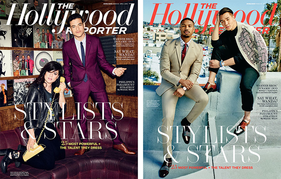 Rami Malek & Michael B Jordan Join Their Stylists for The Hollywood Reporter