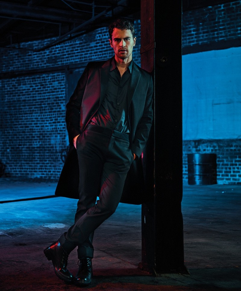 Theo James graces the pages of Essential Homme for a new photo shoot.