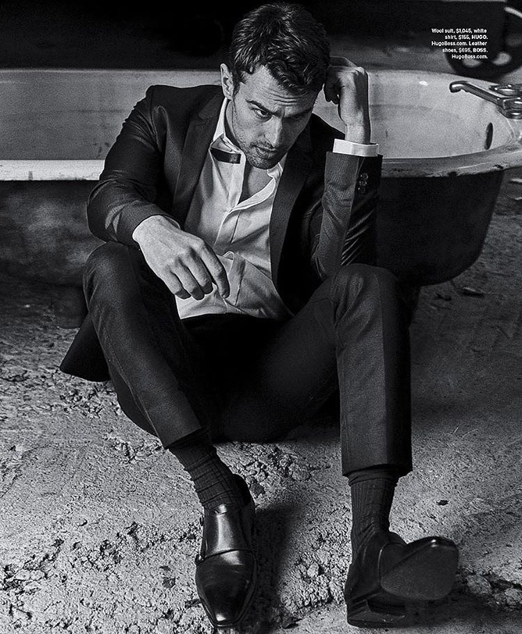 Theo James pictured in smart pieces from HUGO and BOSS by Hugo Boss.