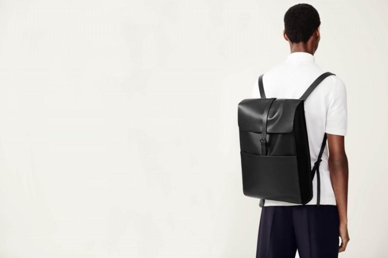 Topman Premium Suede & Leather Backpack