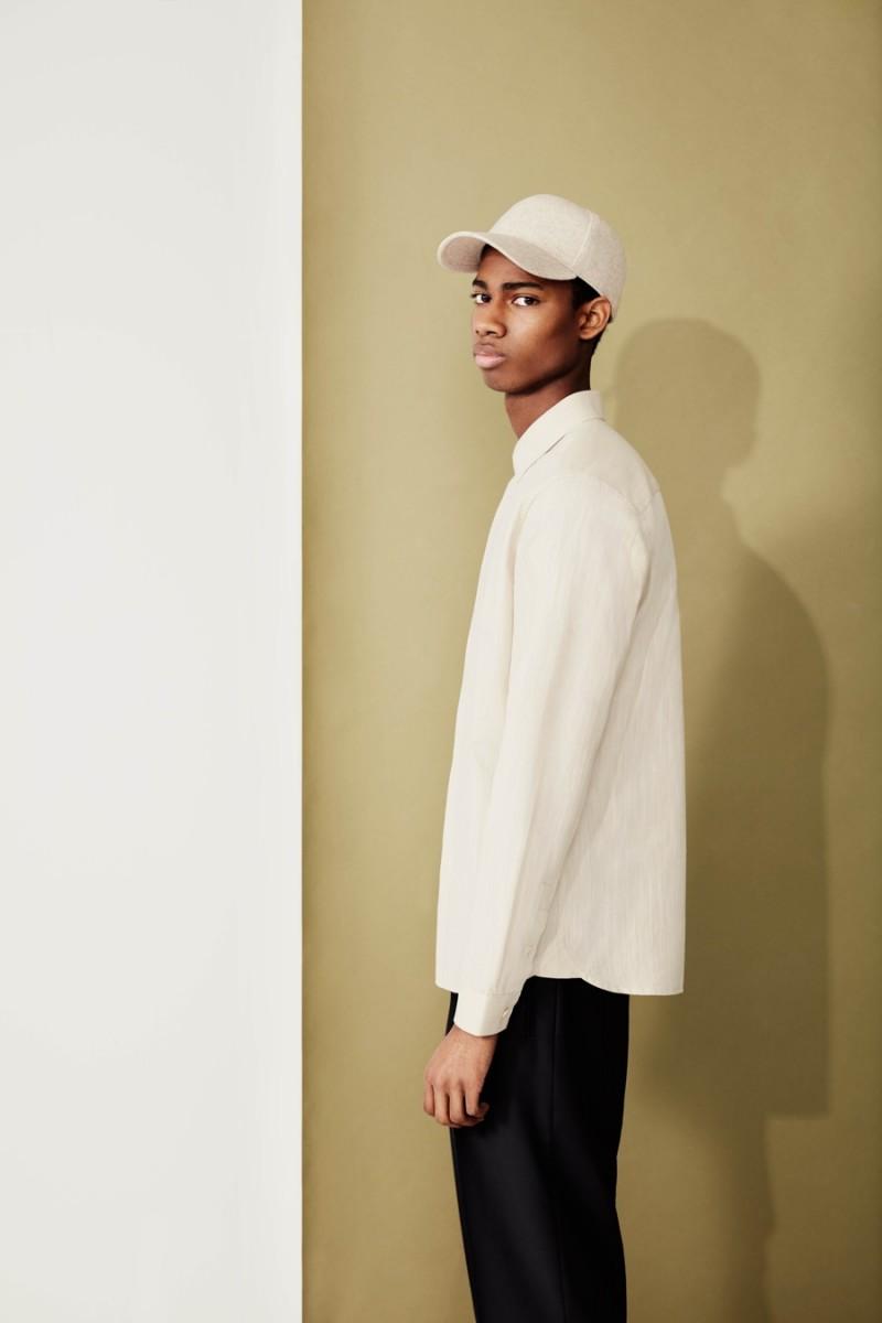 Topman Premium Skinny Chinos, Wool Blend Cap and Long Sleeve Shirt.