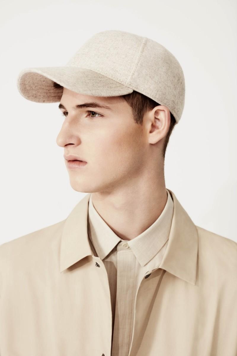 Topman Premium Wool Blend Cap, Linen Shirt and Cotton Mac.