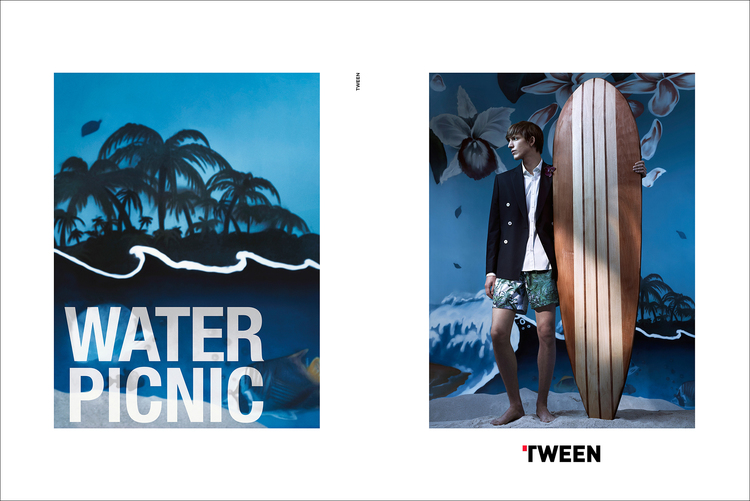 Xavier Buestel photographed by Umit Savaci for Tween's spring-summer 2016 campaign.